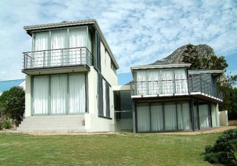 Redesigned and revamped house with three levels right on the seafront