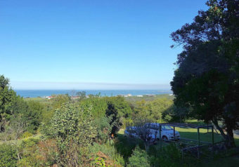 Views over the garden and the sea
