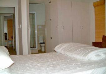 En suite bedroom with double bed