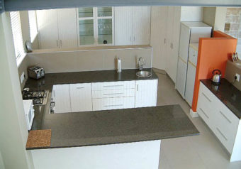 Large fully equipped open plan kitchen