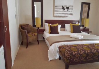 Comfortable bedroom with en suite bathroom