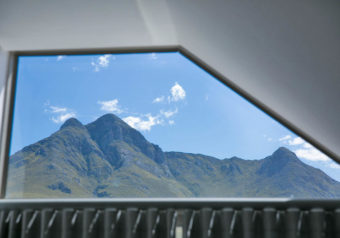 View of the Drie Suster mountain range behind Kleinmond